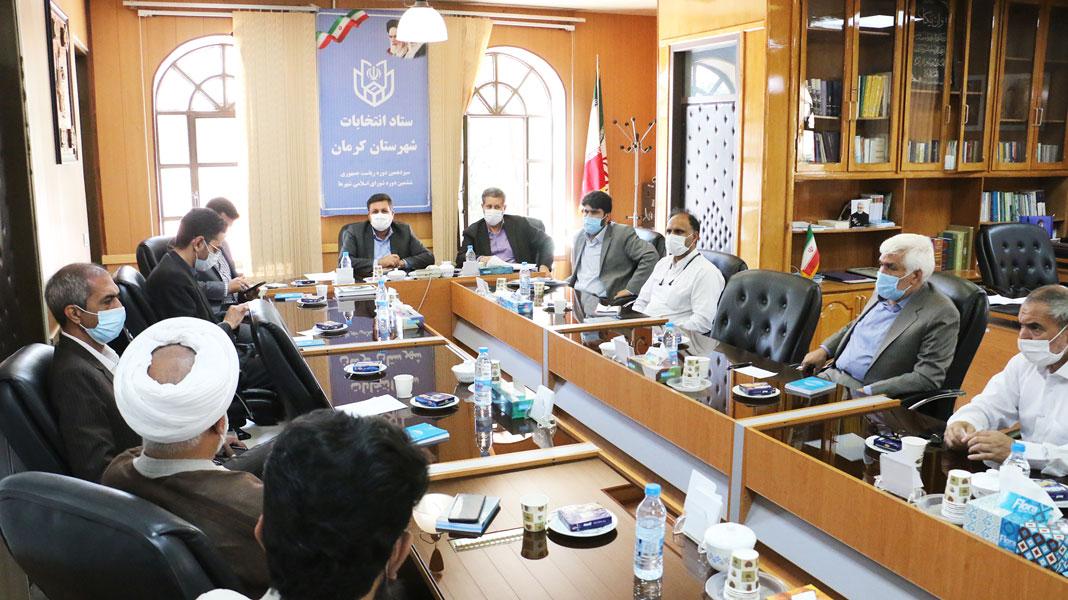 دیدار فرماندار با رؤسای ستاد کاندیدهای ریاست جمهوری در کرمان